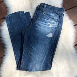 Ag Slouchy Skinny Beau Destroyed Jeans